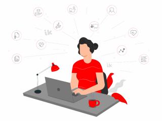 Сотрудница в онлайн-магазин