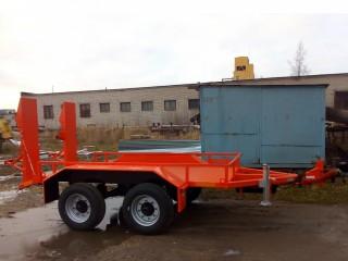 Низкорамный прицеп для перевозки дорожно-строительной спец техники до 5 тонн