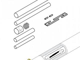 Ремкомплект для сращивания греющего кабеля S-69