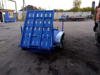 Низкорамный прицеп для перевозки строительной техники до 2 х тонн